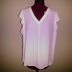 Philosophy Blouse Flutter Cap Sleeves Size Medium